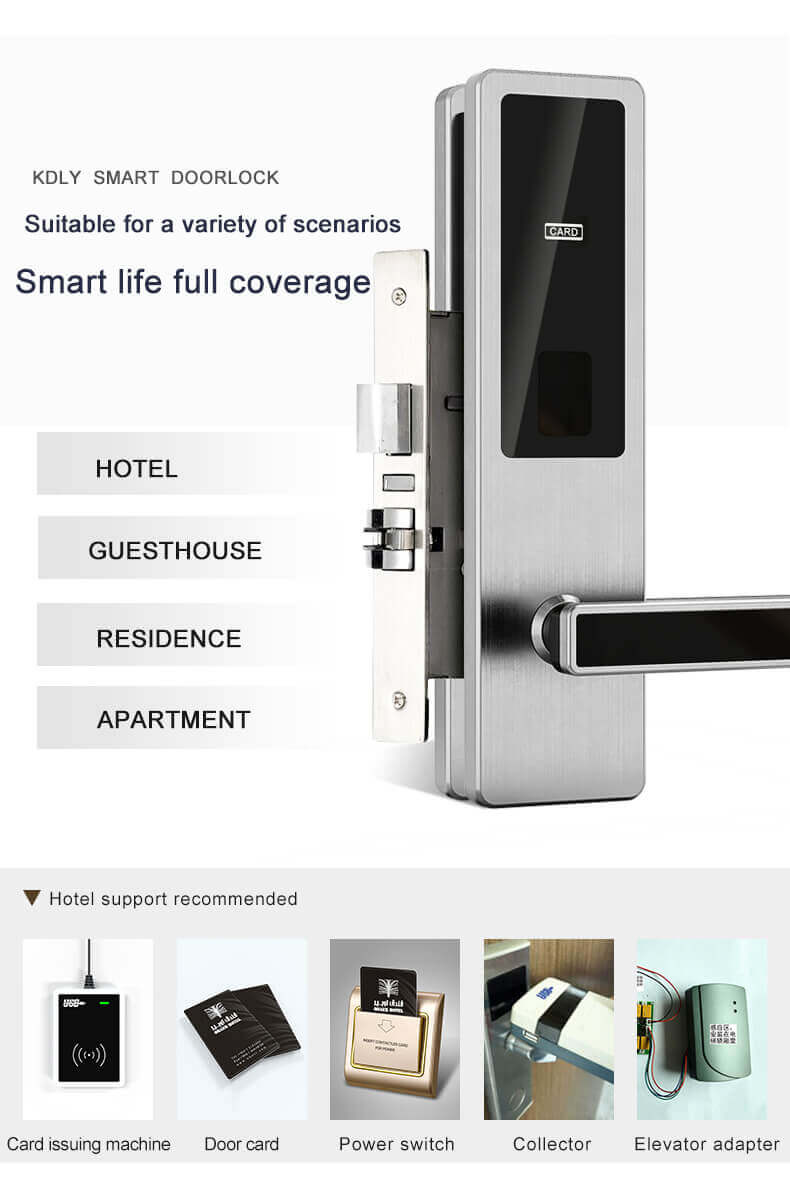 1623576054 Electronic Commercial Key Card Door Lock for Hotels Room SL HA5 3 - Electronic Commercial Key Card Door Lock for Hotels Room SL-HA5
