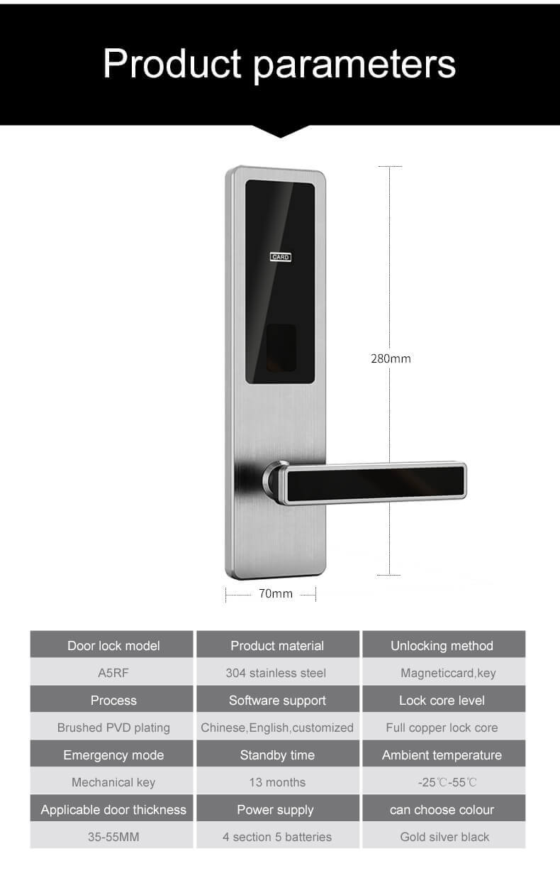 1623576063 Electronic Commercial Key Card Door Lock for Hotels Room SL HA5 9 - Electronic Commercial Key Card Door Lock for Hotels Room SL-HA5