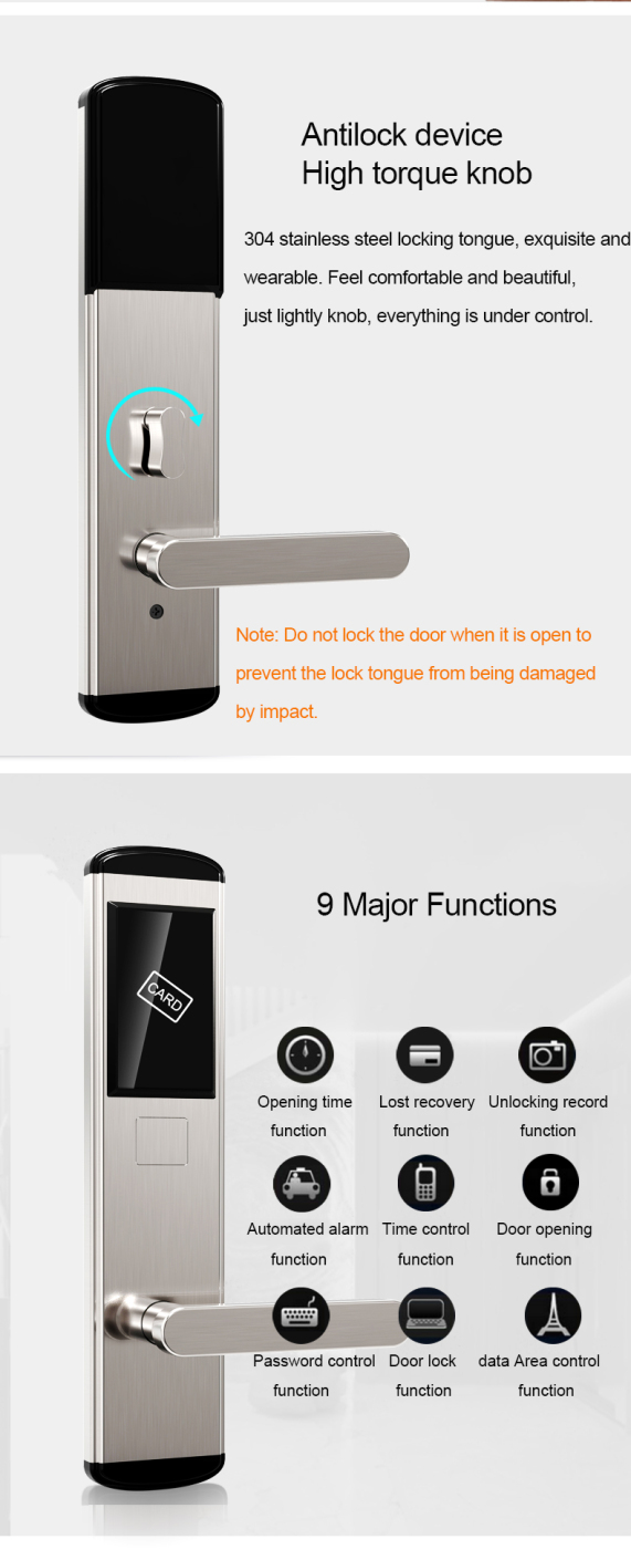 resize,m fill,w 571,h 1410# - Electronic RFID Entry Key Card Lock for Hotel Doors Security SL-HA2