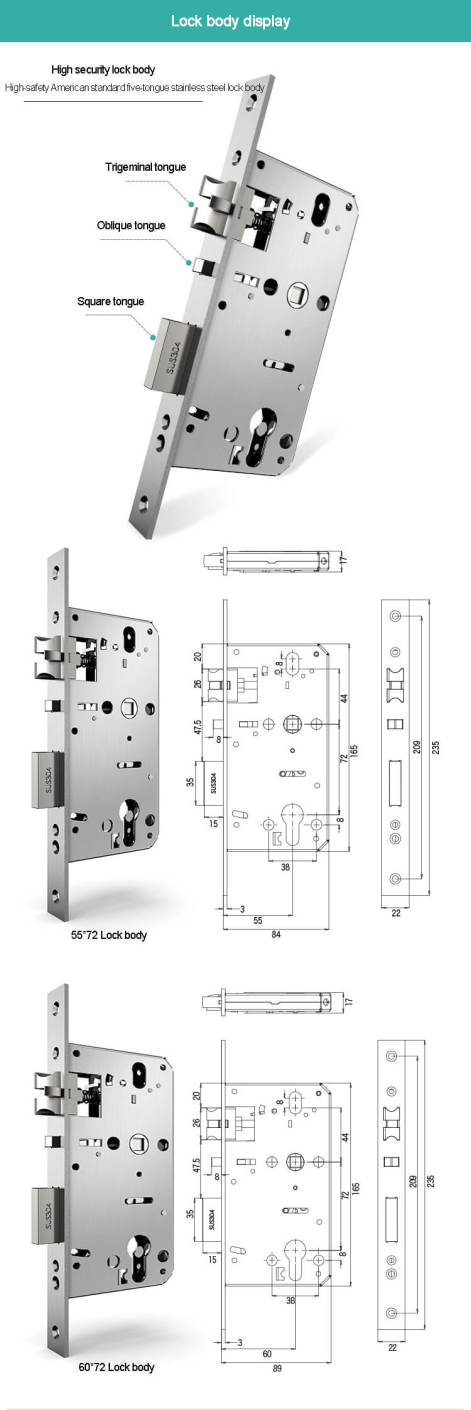 resize,m fill,w 471,h 1410# - Commercial Key Card Rfid Entry Hotel Security Door Locks SL-H1018