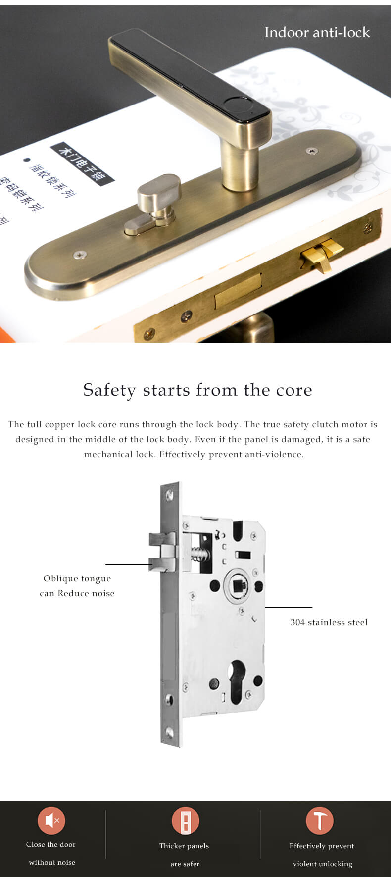 Rfid Card Access Control Hotel Electronic Door Lock System SL-H2025