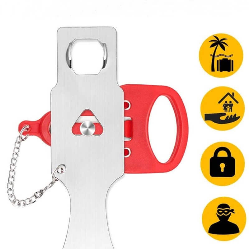 Extra Portable Door Locks For Hotels Room Security From Inside SL-PD