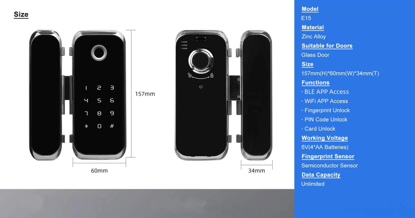 resize,m fill,w 1410,h 741# - Bluetooth Phone Remote Control Office Door Security Lock SL-FG15